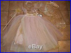 Pottery Barn Kids Butterfly Fairy Costume Pink Halloween 7 8 Years #1612