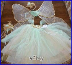 Pottery Barn Kids Butterfly Fairy Halloween Costume Mint Blue 4-6 Years #2310