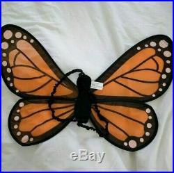 Pottery Barn Kids Monarch Butterfly Halloween Costume Orange Black 3T #75