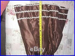 Prairie dress Victorian Civil War brown ivory costume western girl 1700's 1800's