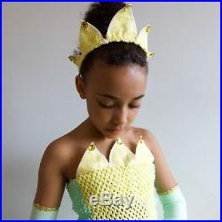 Princess Tiana & The Frog inspired Costume Age 3 up to 12 years Made To Measure