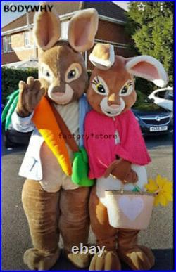 Rabbit Mascot Easter High-quality handmade Mascot Costume Suits Xmas Adults ad