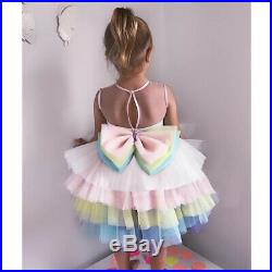 Rainbow Tutu Costume Kids Toddler Girls Cosplay Outfit Unicorn Party Fancy Dress