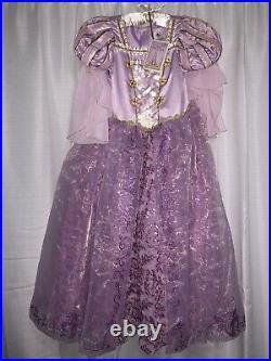 Rapunzel Deluxe Costume Designer Collection Dress Girls 9/10 Disney Tangled New