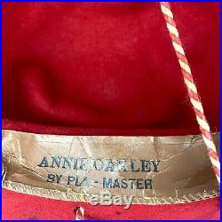 Rare Vintage Annie Oakley Costume Outfit Western Vest, Skirt, Hat Cowgirl Rodeo