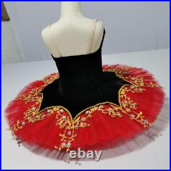 Red Ballet Tutu Professional Ballet Dress Lyrical Dance Costumes Ballet Dress
