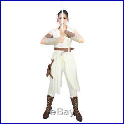 Rey Costume Star Wars 9 The Rise of Skywalker women Cosplay Halloween Adult