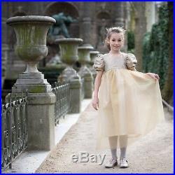 Robe & Cape Peau Ane Soleil Or Princesse déguisement Costume Luxe Fourrure Noël