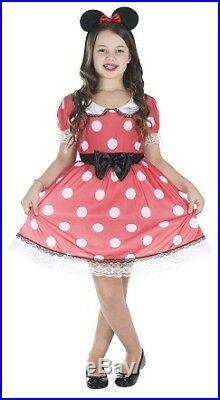 Rotes Kleid mit weißen Punkten Größe L Kinder Karneval 50123 Gebraucht