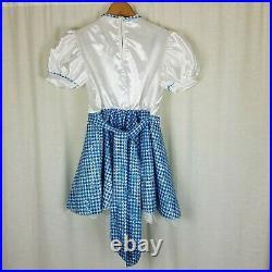 Rubies Die Zauberer Von OZ Mädchen Dorothy Kostüm Blau Gingham Kleid Jugend M 10