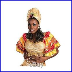 Rumba Girl Costume Adult Samba Tropicalismo Carnivale Fancy Dress
