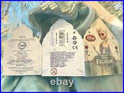 SIZE 9/10FROZEN ELSA GOWNA++ Quality! RETIRED DELUXE ORIGINAL DISNEYNew TAG