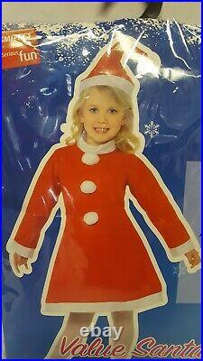 Santa Girl Helper Christmas Costume Child Fancy Dress Age 10-12