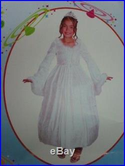 Snow Princess Kinder Kostüm Größe L Mädchen Schnee Prinzessin Karneval