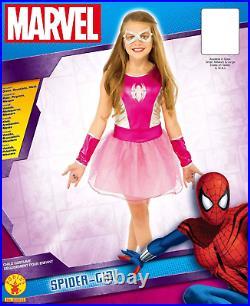 Spider-Man Spider Girl Classic Costume Marvel Medium SZ 12-14 PINK RUBIES 620033