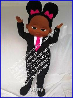 The Boss Baby African American Girl Mascot Costume Party Character Halloween