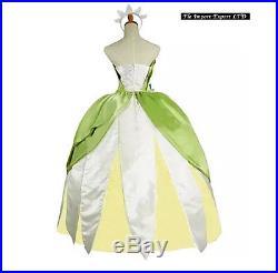 Tiana Principessa Ranocchio Vestito Carnevale Donna Princess Frog Dress TIANA02
