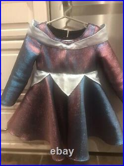 Toddler Custom Made Dreams Princess Gown / Dress Shimmering Blue & Pink 3T NEW