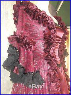 Travestimento donna costume rococo vampiro cosplay ballo storico
