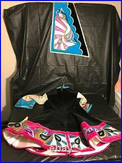 VINTAGE ethnic costume, GIRLS VELVET ethnic costume SEE MEASUREMENTS