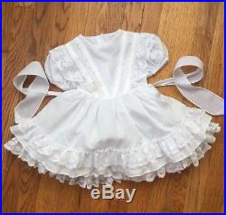 VTG Fancy Girls Party Southern Belle Ruffle Lace Dress Full Circle Size 4