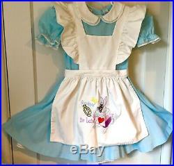 Vintage Disney Alice In Wonderland White Rabbit Late Costume Dress Child Girl 6x
