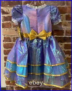 Walt Disney World 50th Anniversary Minnie Iridescent Costume Dress Girls 5/6 NEW