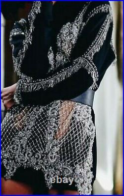 Womans Lou Lou Black Glam Bling Crystal Jeweled Rinestone Hoodie screen worn